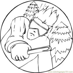 Skiing 3 Coloring Pages 7 Com