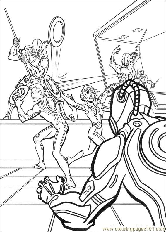 tron coloring pages to print - photo#5