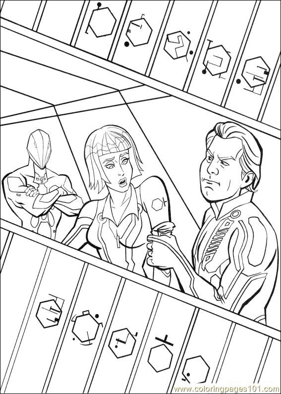 Tron 39 Coloring Page
