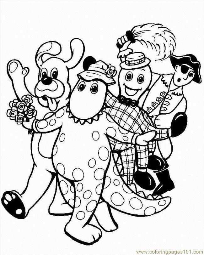 Wiggles (4) Coloring Page