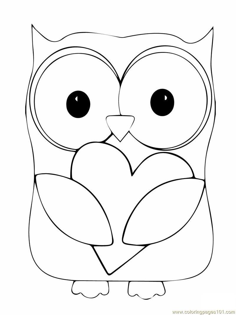 On online owl coloring pages - Owl Coloring Page