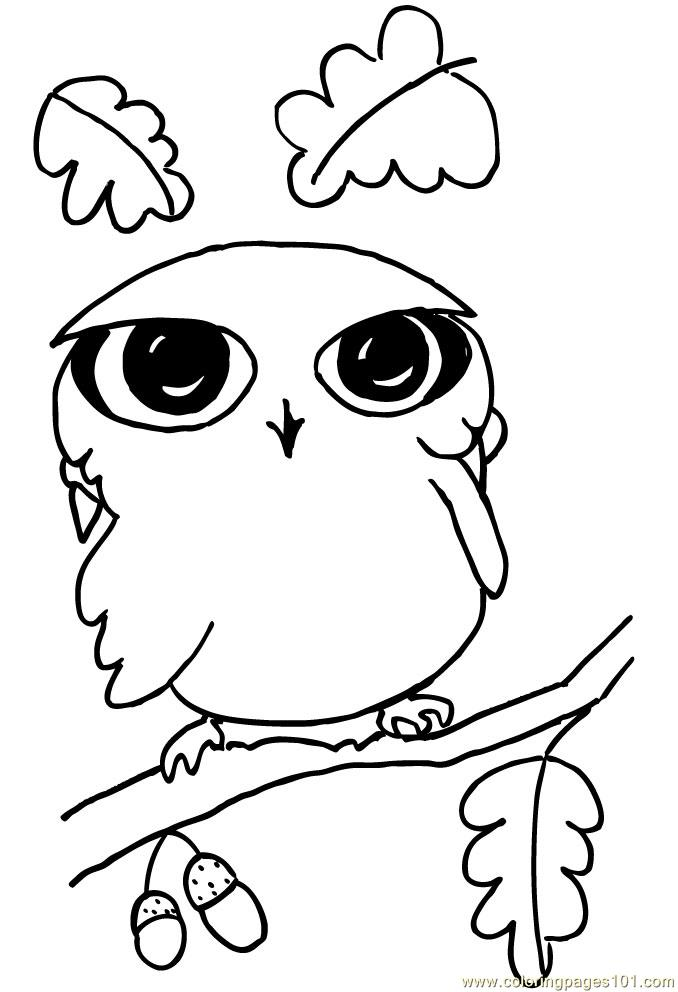 Funny Ittle Owl Coloring Page Free Owl Coloring Pages