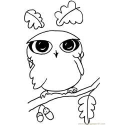 Funny ittle owl Free Coloring Page for Kids