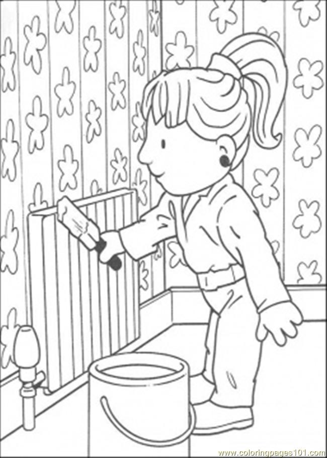 94 Ndy Is Painting Coloring Page Coloring Page