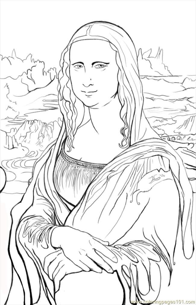 97 Monalisa Cp Coloring Page