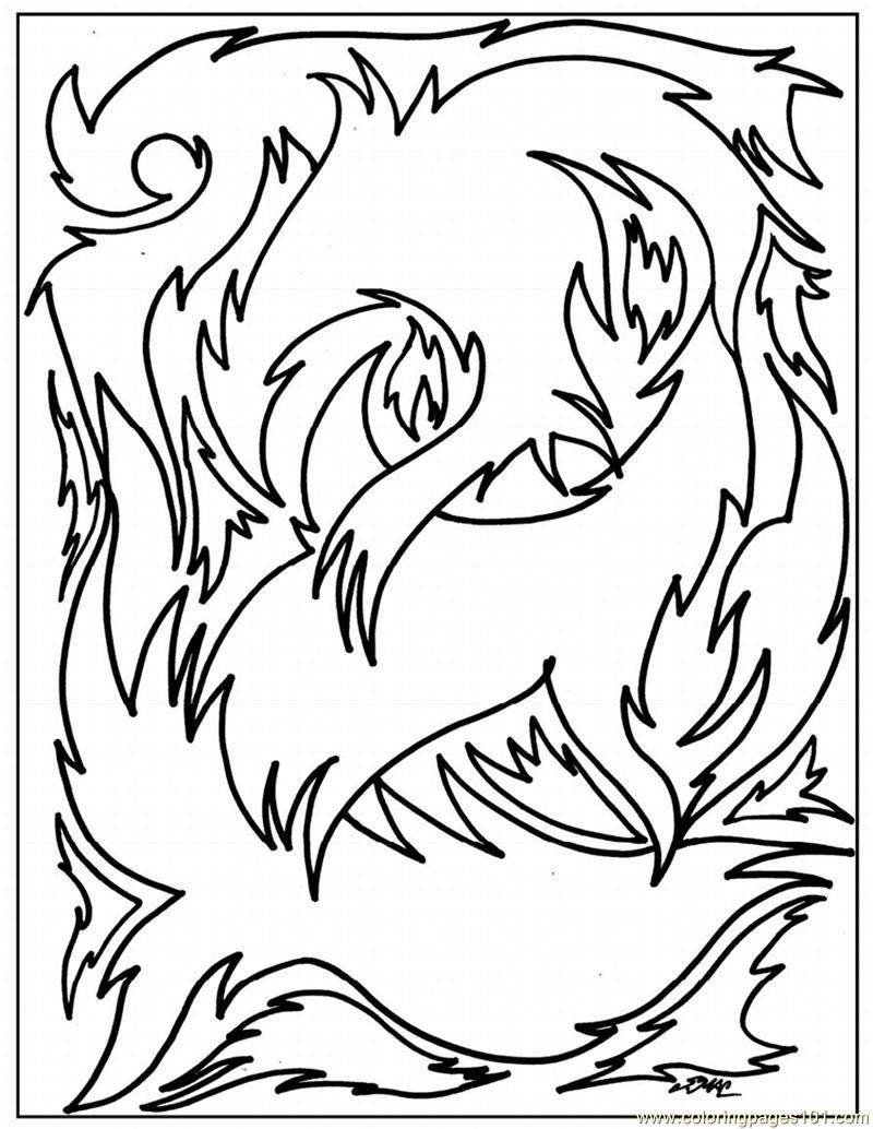 Abstract Coloring Page Free Painting Coloring Pages