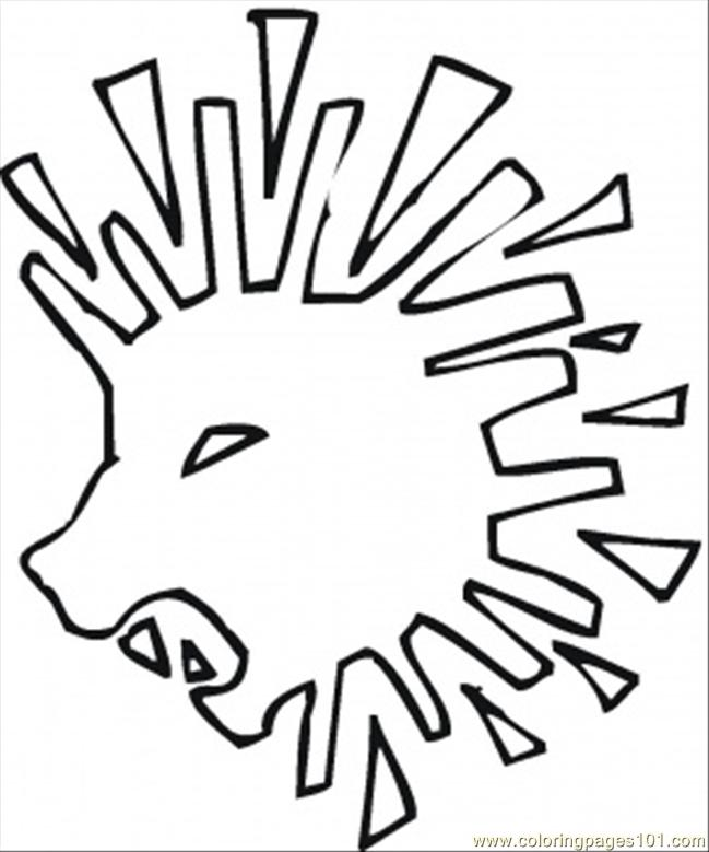 Abstract Lion Coloring Page