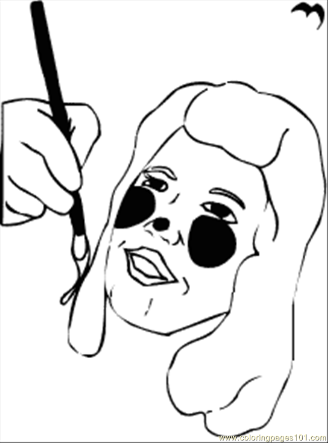 Face Painting Coloring Page