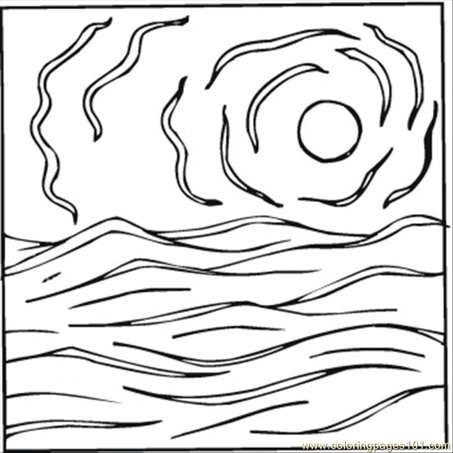 Impressionist Coloring Page