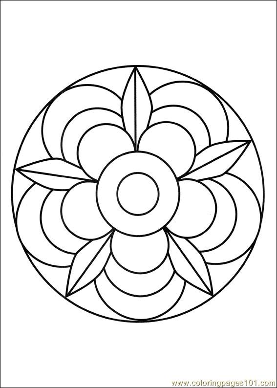 Mandalas 002 Coloring Page - Free Painting Coloring Pages ...