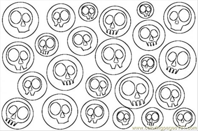 Skulls Pop Art Coloring Pag Coloring Page Free Painting Coloring