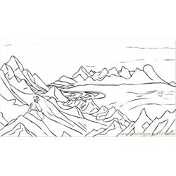 Song Of Shambhala By Nicholas Roerich Free Coloring Page for Kids