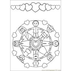 Mandala 56 Free Coloring Page for Kids