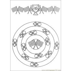 Mandala 57 Free Coloring Page for Kids
