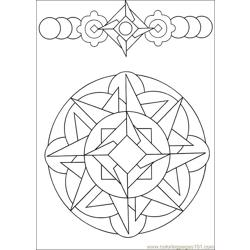 Mandala 58 Free Coloring Page for Kids