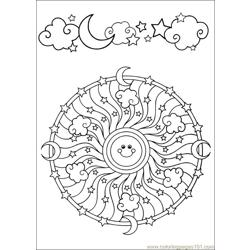Mandala 59 Free Coloring Page for Kids