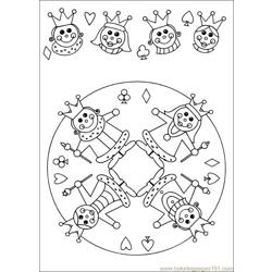 Mandala 61 Free Coloring Page for Kids