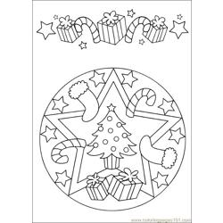 Mandala 62 Free Coloring Page for Kids