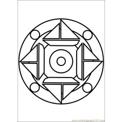 Mandala 64 Free Coloring Page for Kids