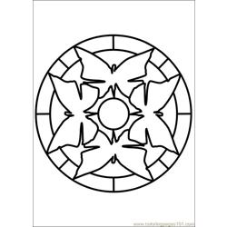 Mandala 65 Free Coloring Page for Kids