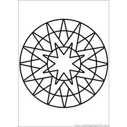 Mandala 66 Free Coloring Page for Kids