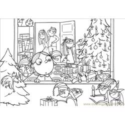 Ree Coloring Pages Xmas The