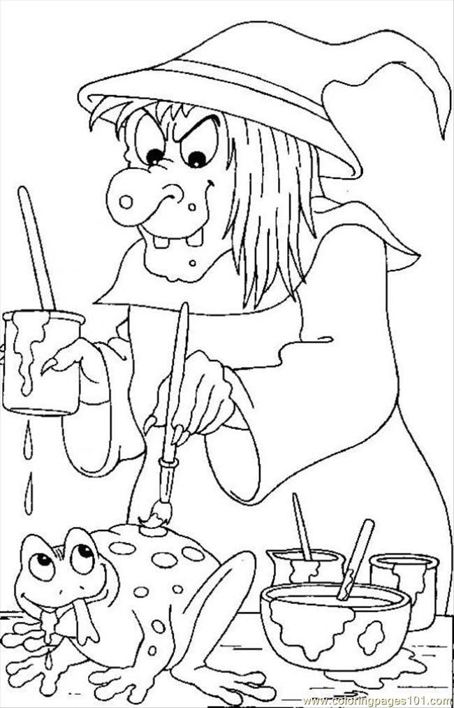 Witch 05 Source Coloring Page
