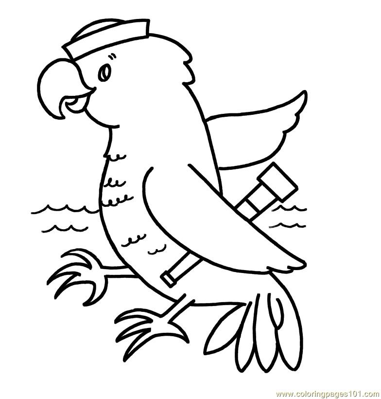 Parrot Coloring Page Free Parrots Coloring Pages