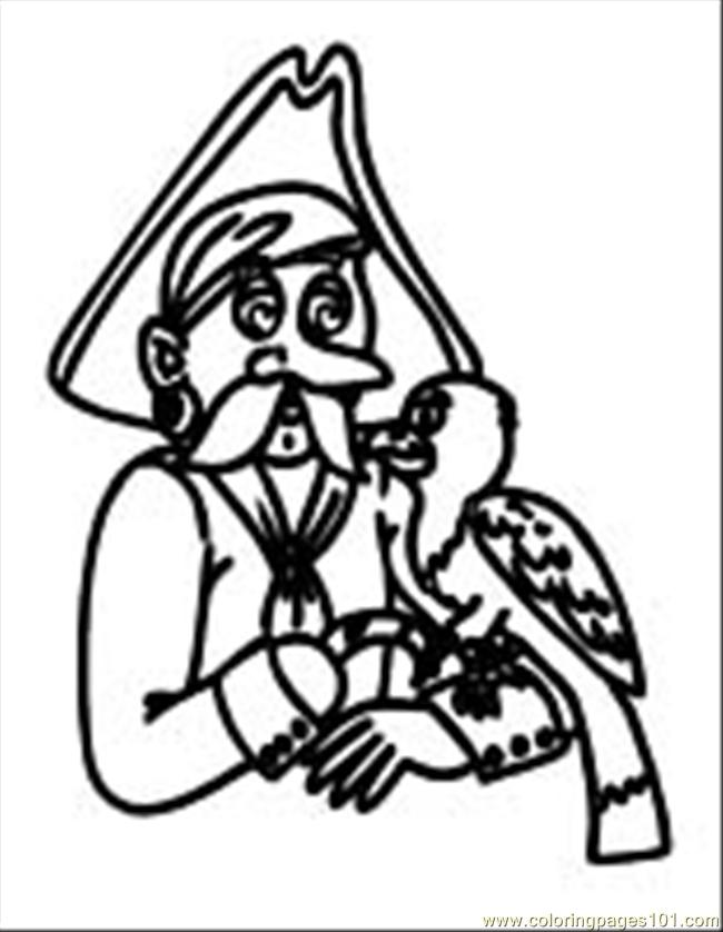 Pirate Coloring Page 08 Coloring Page