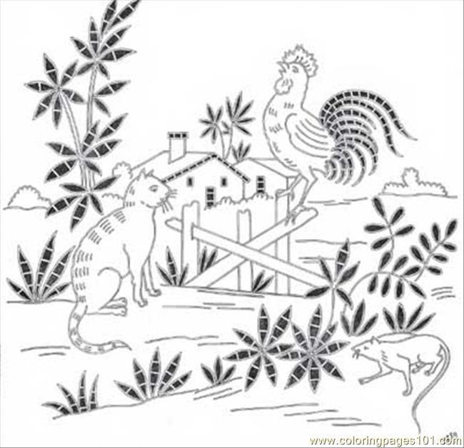 Antique Pattern Library Coloring Page