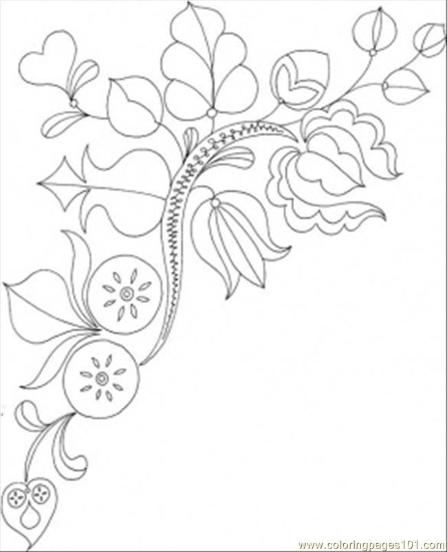 Blooms And Flowers Coloring Page