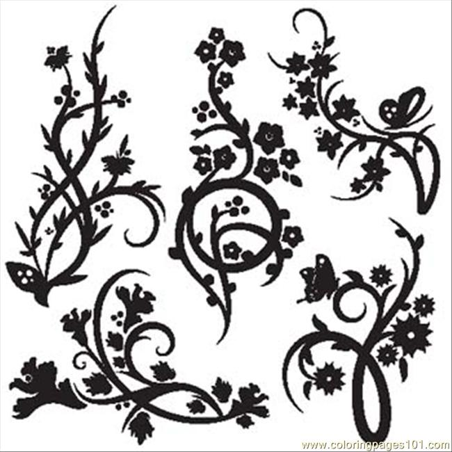 Chinese Vector Pattern Coloring Page