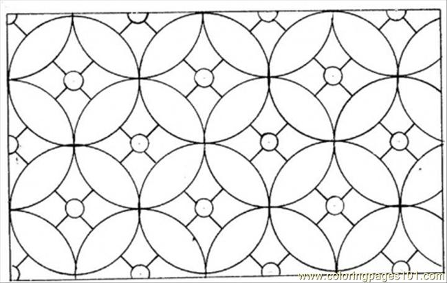 Circles Coloring Page Free Pattern Coloring Pages