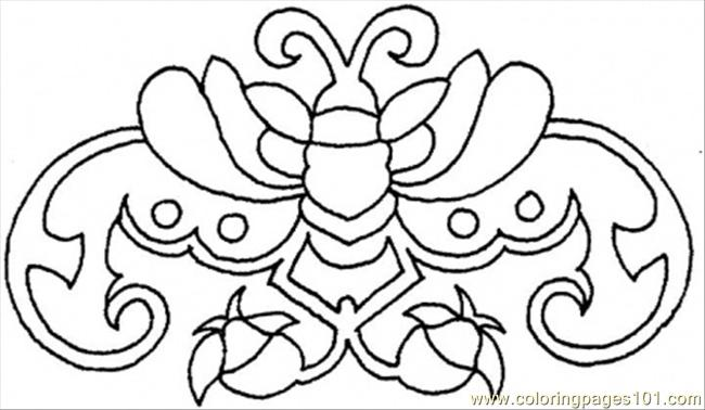 Crab From Flowers Coloring Page