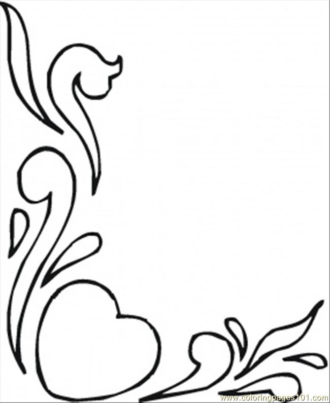 Hearts And Flowers Coloring Page Free Pattern Coloring Pages