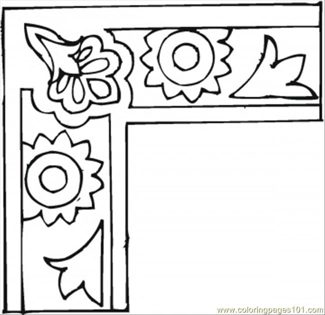 Mirrow Frame Coloring Page Free