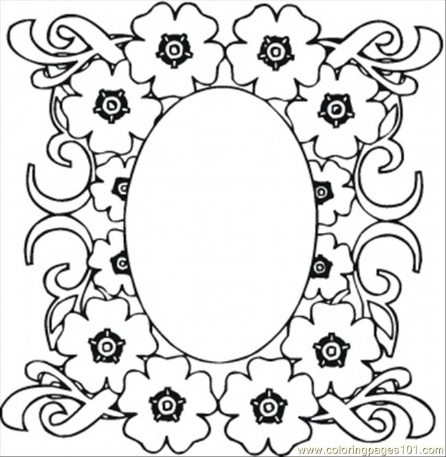 Mirrow In The Flowers Coloring Page