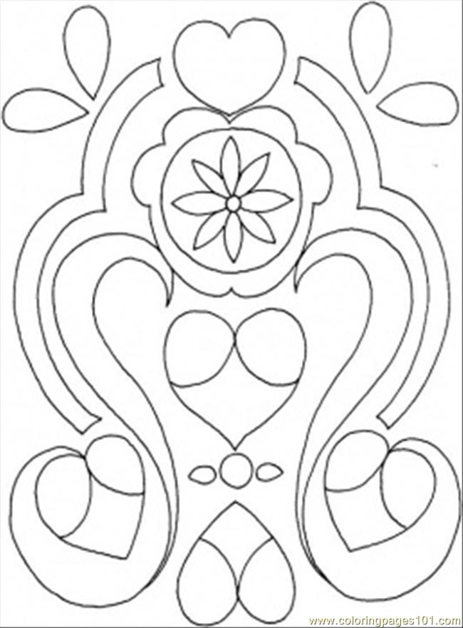 Ornament For The Wall Coloring Page