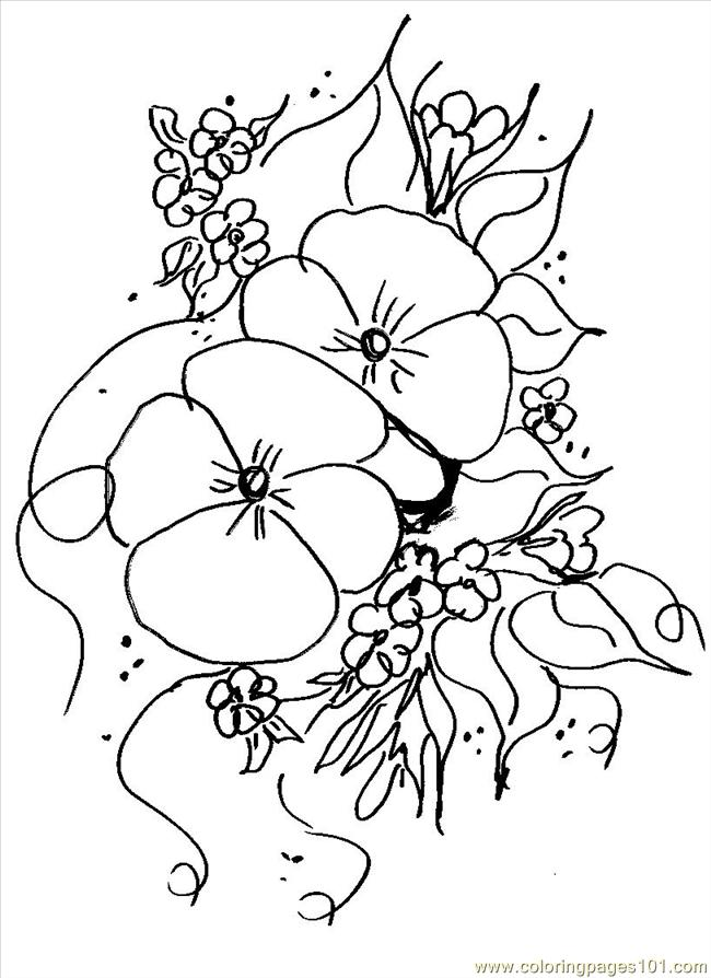 Pansy1 Left Pattern Coloring Page