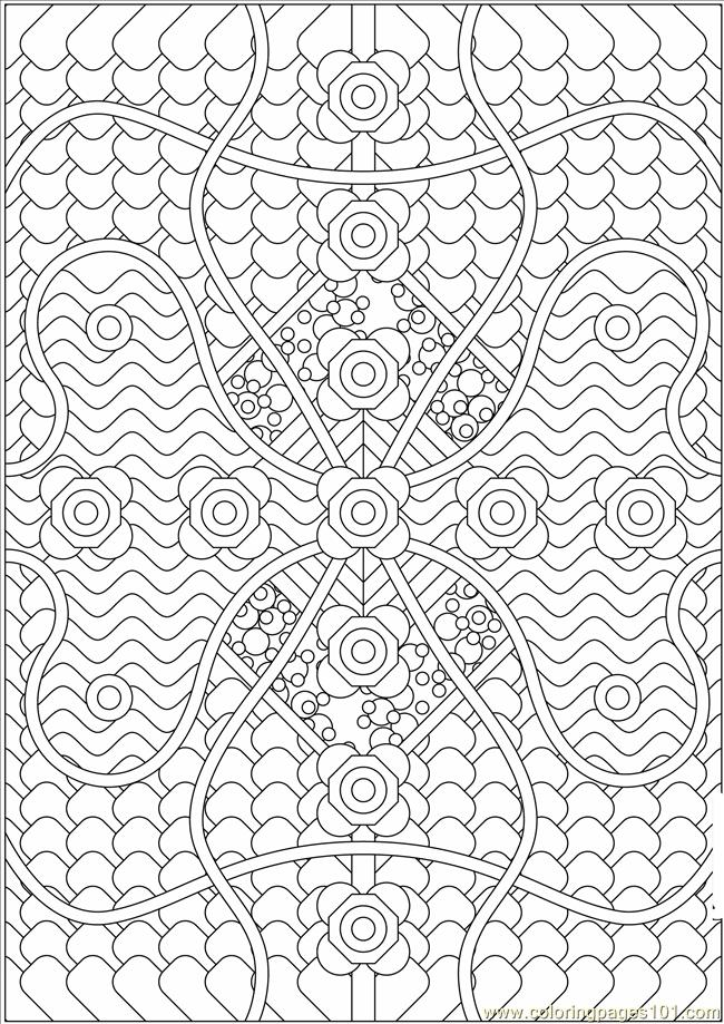 Pattern1a4mm5 Coloring Page