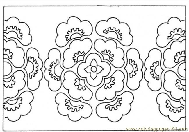 Pattern From Flowers Coloring Page