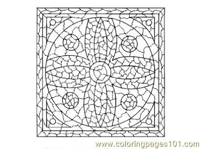 Stained Glass001 Coloring Page