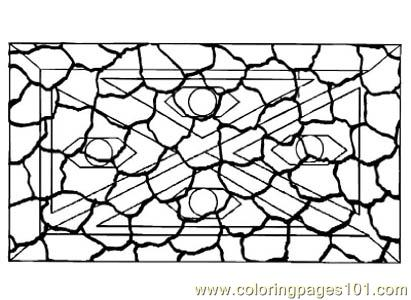 Stained Glass035 Coloring Page