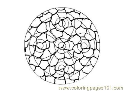 Stained Glass072 Coloring Page