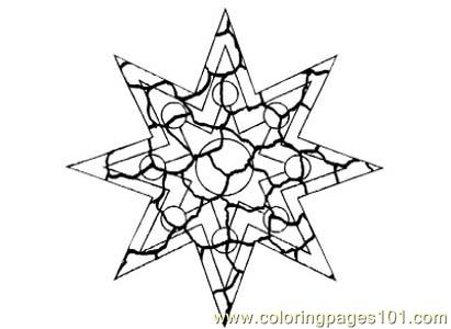 Stained Glass074 Coloring Page