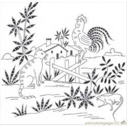 Antique Pattern Library Free Coloring Page for Kids