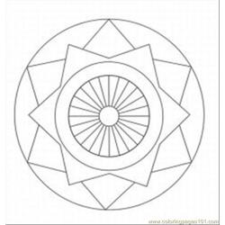 Cate Patterns And Designs Med Free Coloring Page for Kids