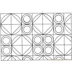 Circles And Squares Free Coloring Page for Kids