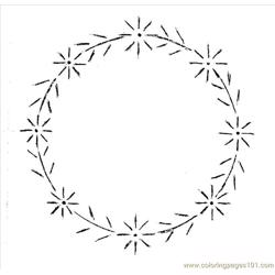 Daisy Wreath Pattern