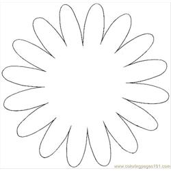 Flower3pattern Free Coloring Page for Kids
